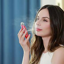Портативный ультразвуковой увлажнитель Nanum с функцией массажа для лица 3.7В 400 мА Красный, фото 2