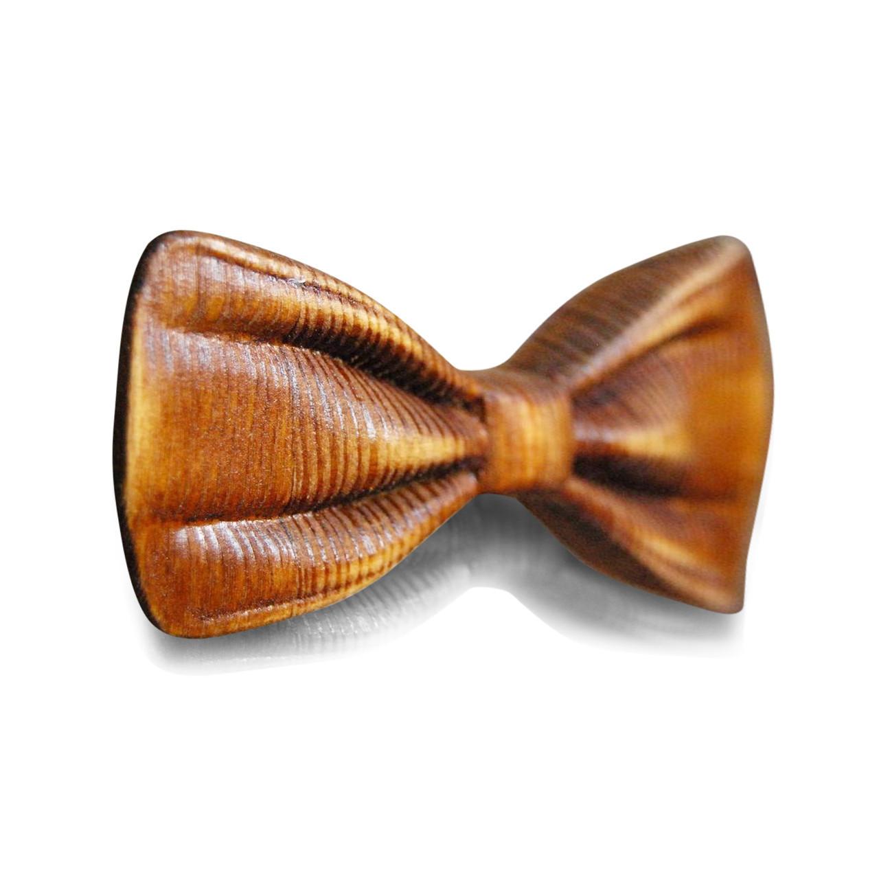 Деревянная бабочка HatynkaUA 3D ручной работы Коричневая (SUN0042)