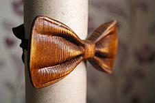 Деревянная бабочка HatynkaUA 3D ручной работы Коричневая (SUN0042), фото 3