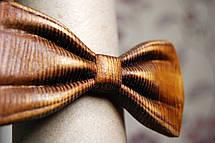 Деревянная бабочка HatynkaUA 3D ручной работы Коричневая (SUN0042), фото 2
