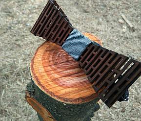 Деревянная бабочка HatynkaUA Решетка ручной работы Серая (SUN0046), фото 2