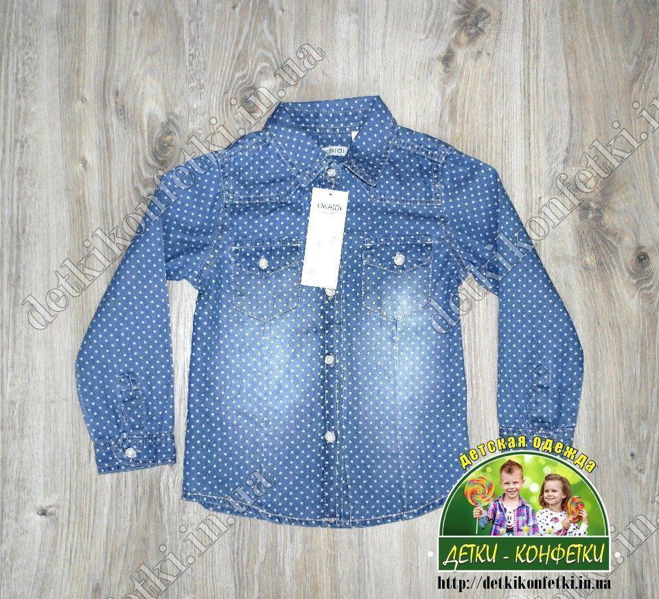 Рубашка для мальчика из облегченного джинса