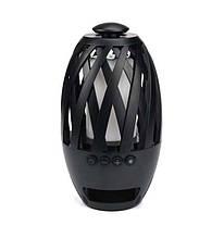 Беспроводная портативная Bluetooth колонка SUNROZ Flame Atmosphere BTS-596 LED Камин Black (SUN0114)