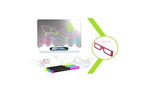 Электронная доска для рисования SUNROZ 3D Magic Drowing Board Морской стиль с подсветкой и 3Д эффектом, фото 2