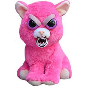 Интерактивная игрушка Feisty Pets Добрые Злые зверюшки Плюшевая Розовая Кошка 20 см, фото 2
