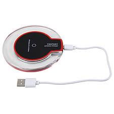 Зарядное устройство FANTASY K9 Беспроводная QI зарядка для iPhone, Samsung 10W Черная, фото 3