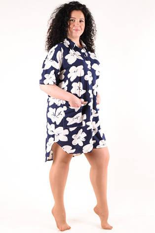 Женская домашняя рубашка 1750-2, фото 2