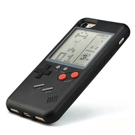 Чехол панель TETRIS CASE LAUDTEC WANLE для смартфонов iPhone 7+/8+ (PLUS) с игрой Тетрис Черный, фото 2