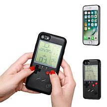 Чехол панель TETRIS CASE LAUDTEC WANLE для смартфонов iPhone 7+/8+ (PLUS) с игрой Тетрис Черный, фото 3