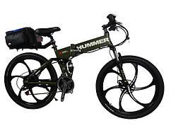 Электровелосипед Hummer electrobike foldable Зеленый 350 (20181116V-22)