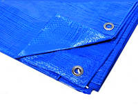 """Тент 4х6 от дождя, и для создания тени """"Blue"""" 60 г/м2. Ламинированный с кольцами. Полог."""