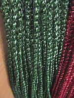 1 см диаметр Колосок дождик Зеленый, Длина 150 см