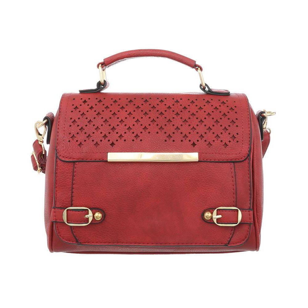 Женская перфорированная сумка с золотыми замками (Европа) Красный