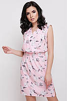 Женский розовый сарафан с цветочным принтом Milena FashionUp  42-48  размеры