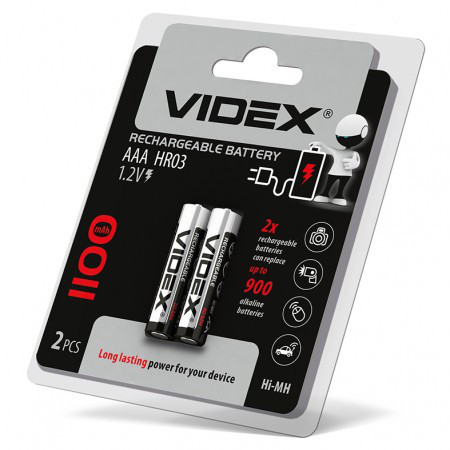 Аккумуляторы Videx HR03/AAA 1000mAh double blister/2шт
