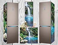 Дизайнерские наклейки на холодильник Водопад