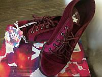 XTI Дитячі брендові велюрові бордові кросівки - туфлі.Оригінал. Розмір - 33