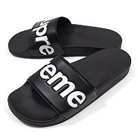 Мужские шлепки Supreme Slide Black, фото 1
