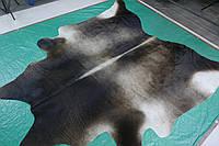 Шкура коровы красивого природного серо кофейно черного окраса, фото 1