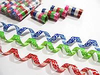 Серпантин новогодний с узором 5 разноцветных колец