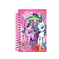 "Блокнот А6 80л чист. ""Kite"" LP17-222 ""Little Pony"" спир.бок."