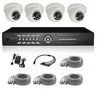 Система видеонаблюдения для помещения на 4 камеры (с HDD ).