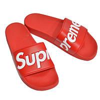 Мужские шлепки Supreme Slide Red, фото 1