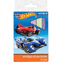 "Мел цветной Kite HW17-075 ""Hot Wheels"", 12 шт. (Y)"