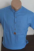 Мужская рубашка с коротким рукавом Varetti стойка