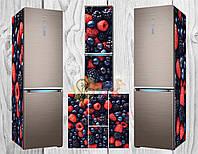 Дизайнерские наклейки на холодильник Фрукты микс