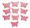 Розовые бабочки N1 с глиттером (блестками) аппликации из фоамирана Латекса заготовки 3.8 см 10 шт/уп