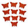 Медные бабочки N1 с глиттером (блестками) аппликации из фоамирана Латекса заготовки 3.8 см 10 шт/уп