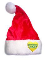 """Новогодняя Шапка Детская Деда Мороза Колпак Санта Клауса Santa Claus красная """"Вышиванка"""", фото 1"""