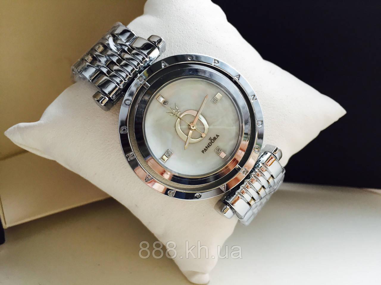 Наручные часы серебрянные Pandora 1301178, стильные часы на подарок