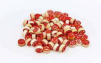 Бочонки для лото запасные 1852: 90 деревянных бочонков