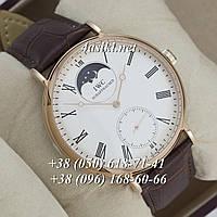Часы IWC Portofino Hand Wound Moonphase Vintage Gold/White AAA