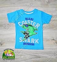 Стильная футболка Shark для мальчика 1,2,3 года