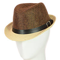 "Шляпа Челентанка 12017-10 коричневый ""CHR-4502"""