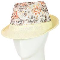 Шляпа Челентанка 12017-15 коричневый-молочный