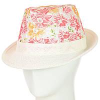 Шляпа Челентанка 12017-15 красный-белый