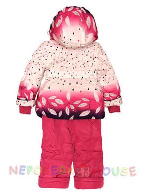 Гарний демісезонний костюм для дівчинки від 3 до 5 років малиновий, фото 2