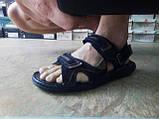 Мужские чёрные сандалии на липучках Detta, фото 5