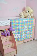 Легкое детское стеганое одеяло.Лен.110*110.
