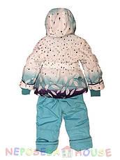 Детский комбинезон  весна-осень для девочки от 1,5 до 4 лет бирюзовый, фото 3
