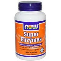 Супер Энзимы (натуральные ферменты) 90 капс улучшение пищеварения от метеоризма NOW Foods USA