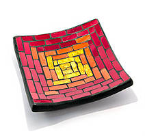 Подсвечник мозаичный (11х11х2 см) 24305