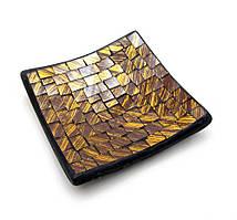 Подсвечник мозаичный (11х11х2 см)