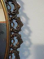 Антикварное зеркало в латунный раме