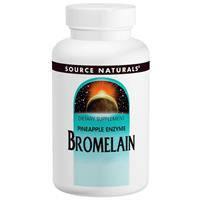 Бромелайн 2000 GDU/г , 60 таб  500 мг ферменты энзимы для пищеварения  чистки сосудов Source Naturals USA