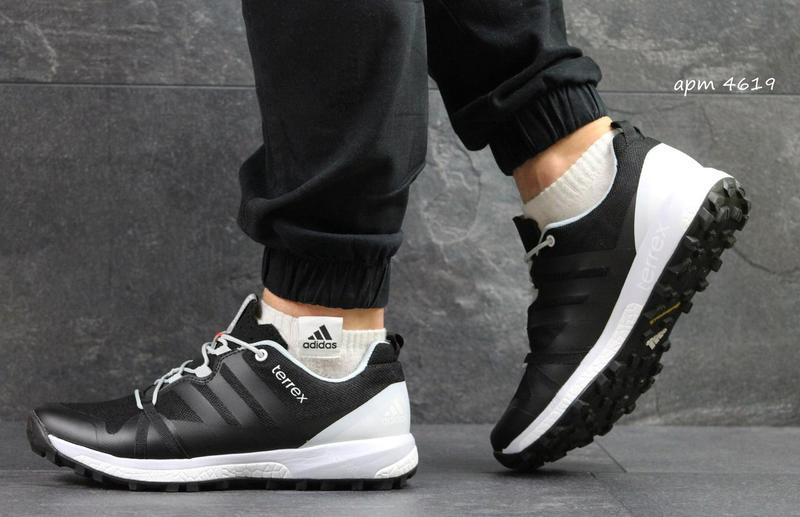 Мужские кроссовки в стиле Adidas Terrex Boost, черно  кроссовки мужские  Адидас Терекс Буст, 5dfc725e8cf